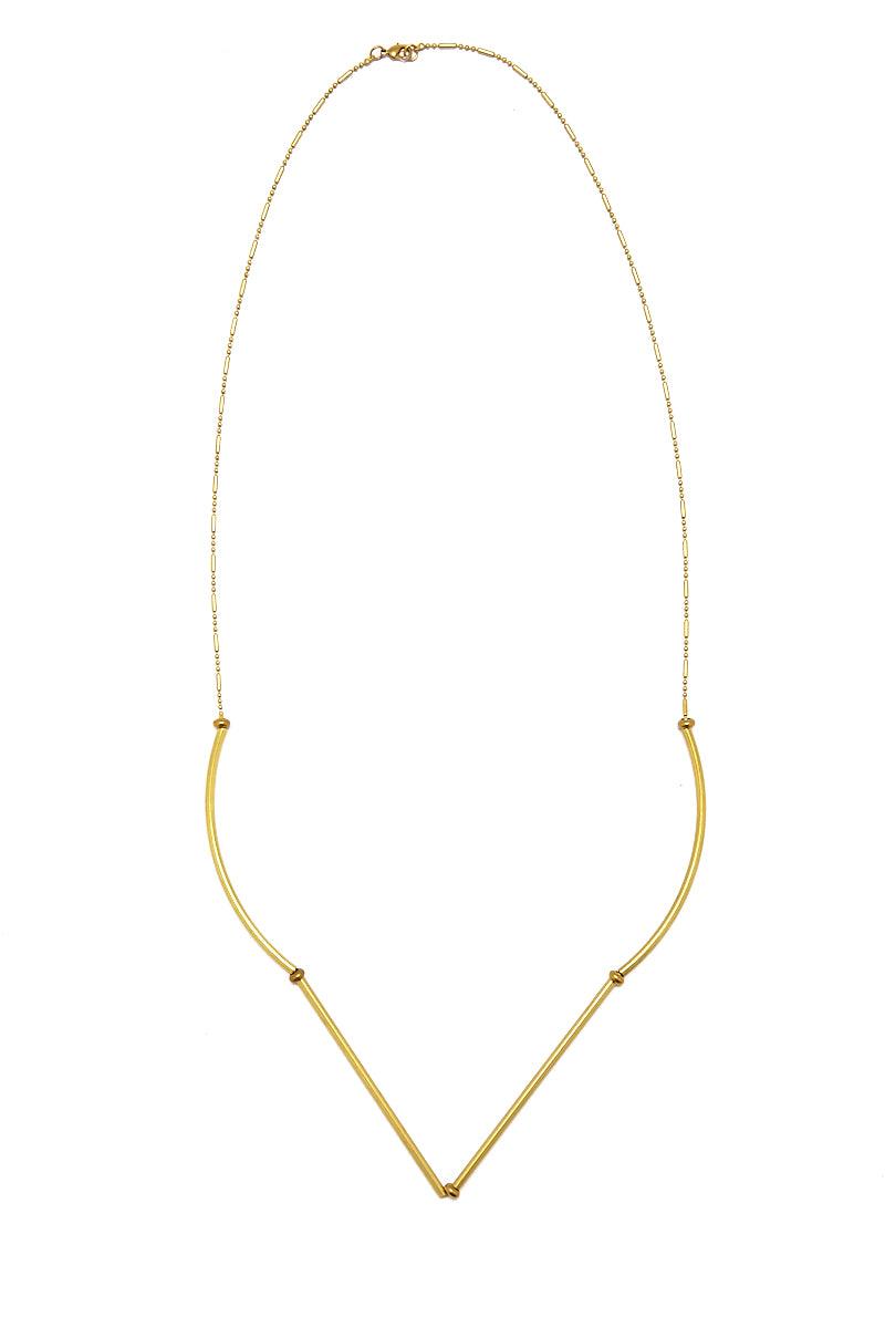 MASHALLAH Gold Raw Brass Necklace Jewelry | Mashallah Gold Raw Brass Necklace