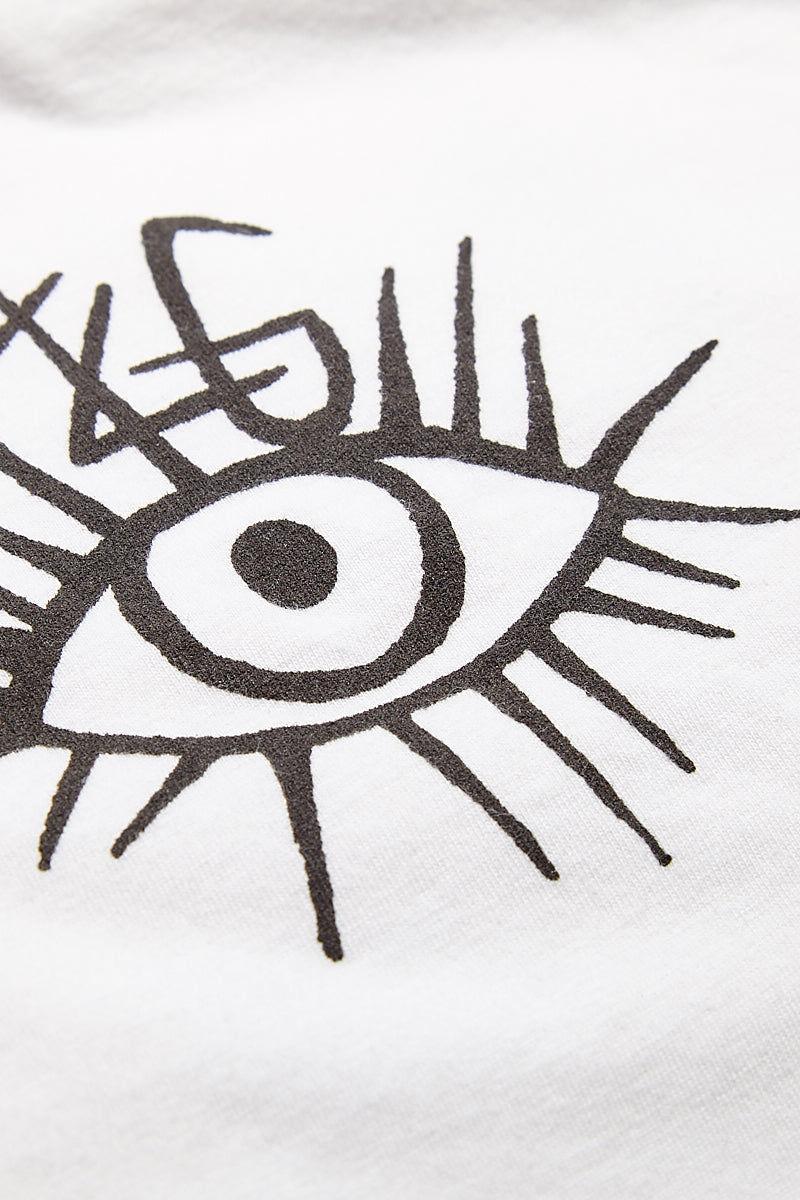 TOP KNOT GOODS Nice Eyes Tee Top | White| Top Knot Goods Nice Eyes Tee