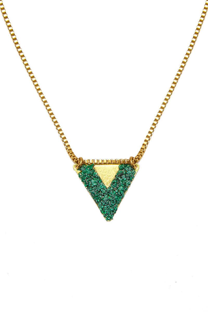 MASHALLAH Double Trouble Necklace - Malachite Jewelry   Double Trouble Necklace - Malachite