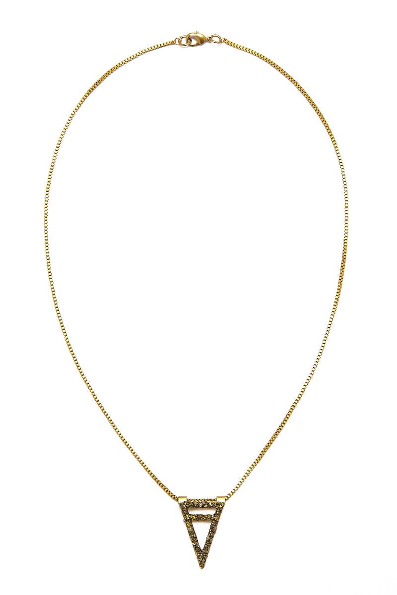 MASHALLAH Cutout Necklace - Pyrite Jewelry | Cutout Necklace - Pyrite