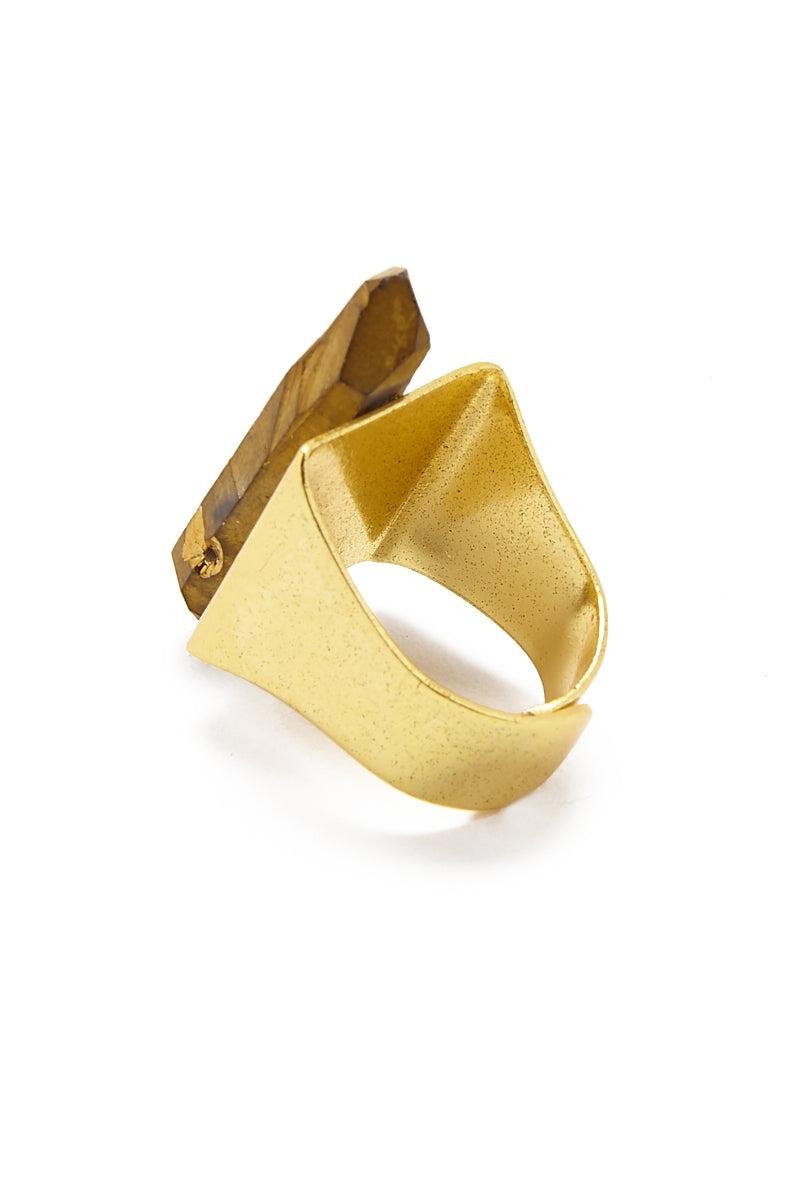 MASHALLAH Gold Quartz Ring Jewelry | Gold Quartz Ring