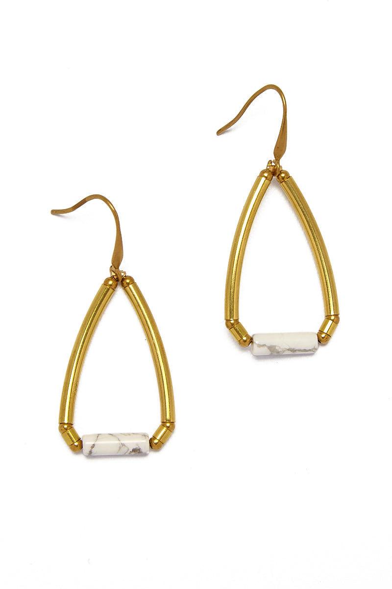 MASHALLAH Raw Brass Earrings Jewelry | Raw Brass Earrings