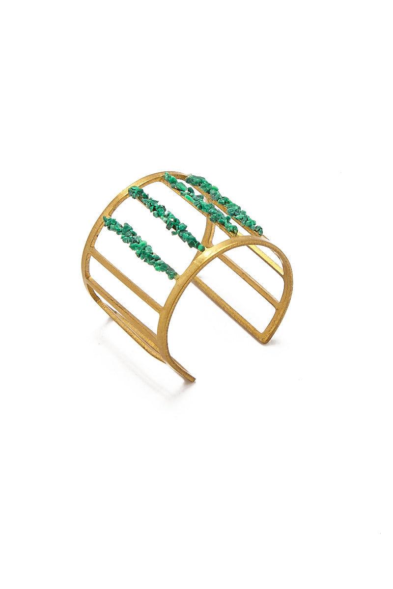MASHALLAH Cage Cutout Ring - Malachite Jewelry | Cage Cutout Ring - Malachite