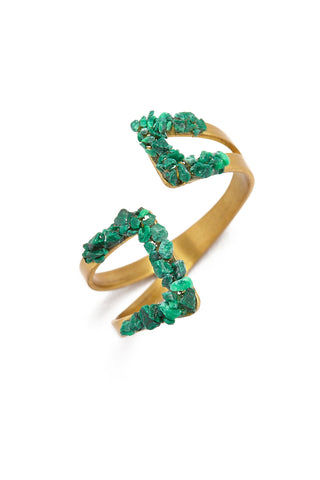 MASHALLAH Geometric Ring - Malachite Jewelry | Geometric Ring - Malachite