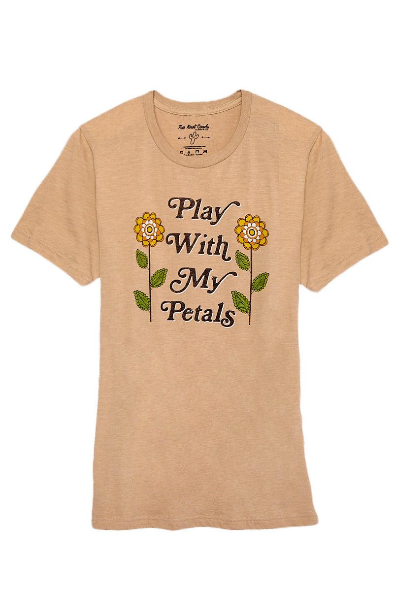 TOP KNOT GOODS Play With My Petals Tee Top | Heather Tan| Top Knot Goods Play With My Petals Tee