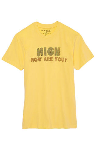 TOP KNOT GOODS High Tee Top | Banana Yellow| Top Knot Goods High Tee