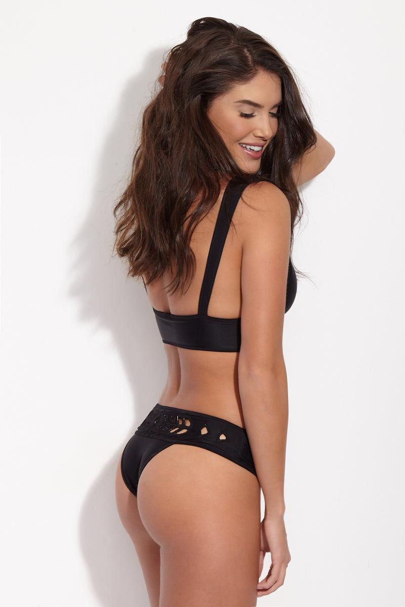 MGS Reversible Mermer Top - Nude/Black Bikini Top | Nude/Black| M.G.S Reversible Mermer Top
