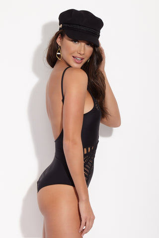 MGS Reversible Sasha One Piece - Nude/Black One Piece | Nude/Black| M.G.S Reversible Sasha One Piece
