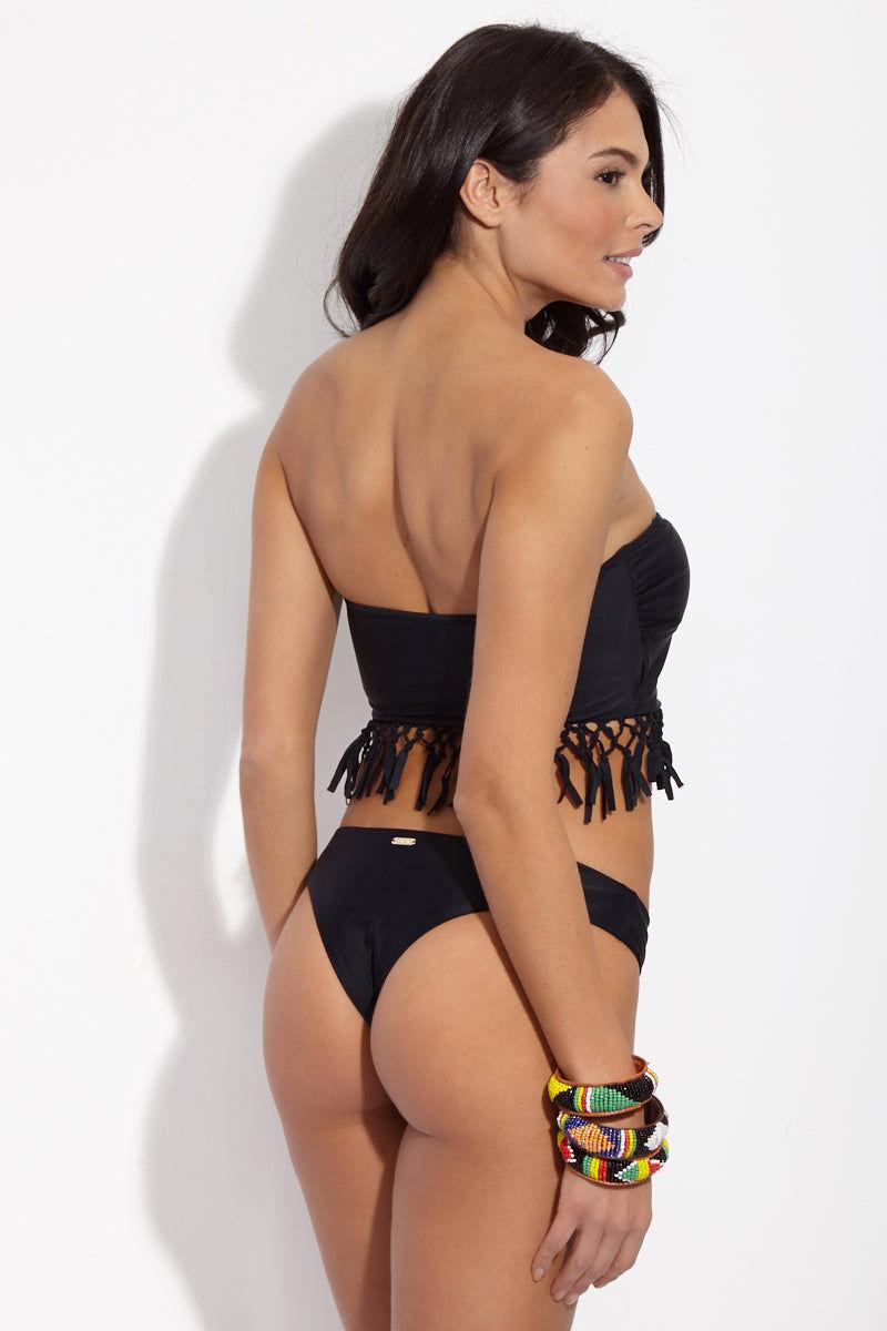 RAISINS Bum Bum Cheeky Bikini Bottom - Black Magic Bikini Bottom   Black Magic  Raisins Bum Bum Cheeky Bikini Bottom - Black Magic. Back View. Brief Bottom. Thick Waist Band. Brazilian Style Cut. Cheeky Coverage. Nylon Back View