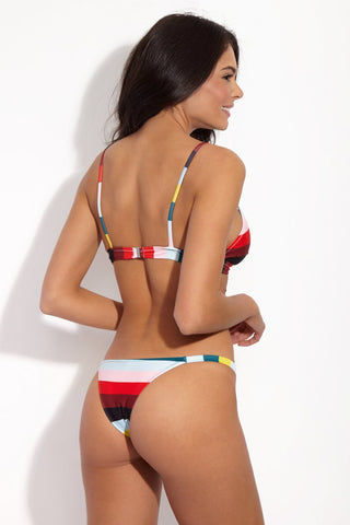 SOLID & STRIPED The Morgan Triangle Bikini Top - Paradise Stripe Bikini Top | Paradise Stripe| Solid & Striped The Morgan Top