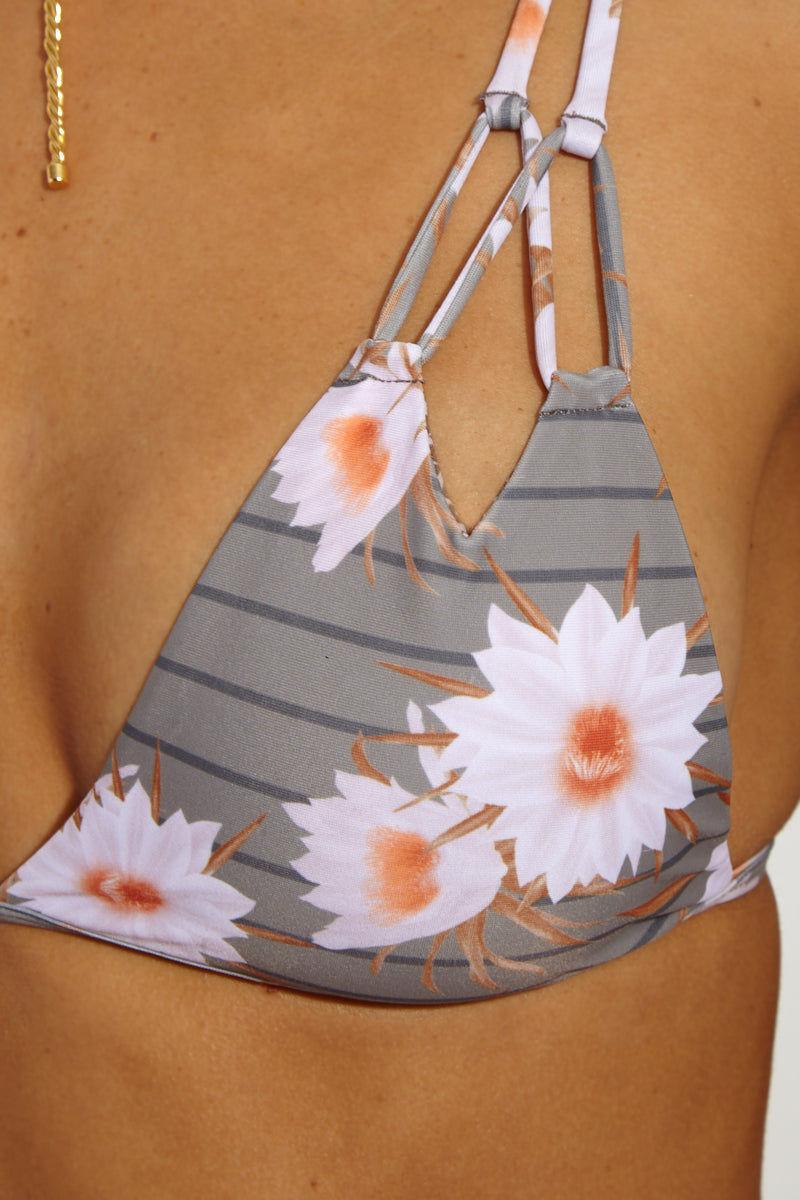 ACACIA Thailand Top - Dragon Top Floral Bikini Top | Dragon Stripe| Acacia Thailand Bikini Top Close Up