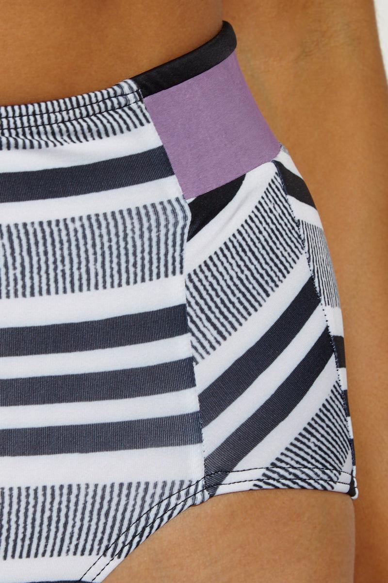 SEEA Arcadia High Waisted Bikini Bottom Bikini Bottom | Rayas| Seea Arcadia High Waisted Bikini Bottom