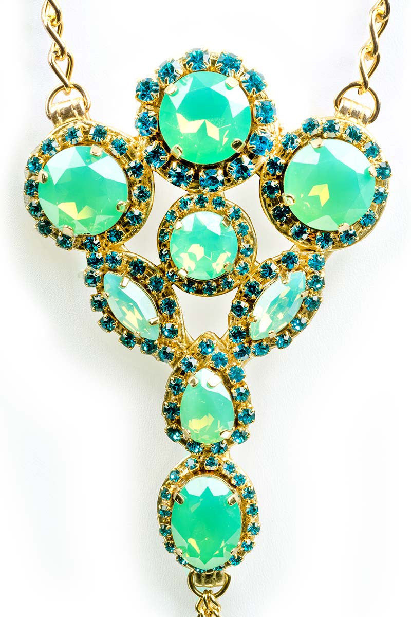 MYSTIQUE Green Envy Foot Jewelry Set Jewelry | Gold & Opal Green|