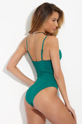 ONIA Isabella One Piece - Solid Emerald One Piece | Solid Emerald| ONIA Isabella One Piece