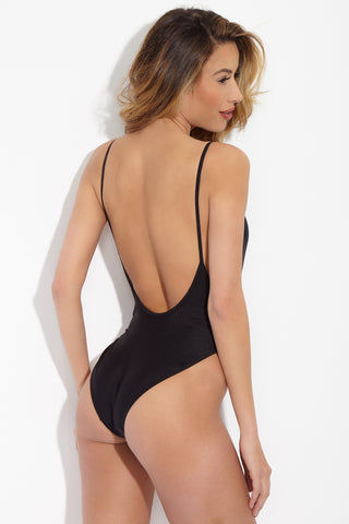 PRIVATE PARTY Lit Bali One Piece Swimsuit - Black One Piece | Black| Private Party Lit Bali One Piece