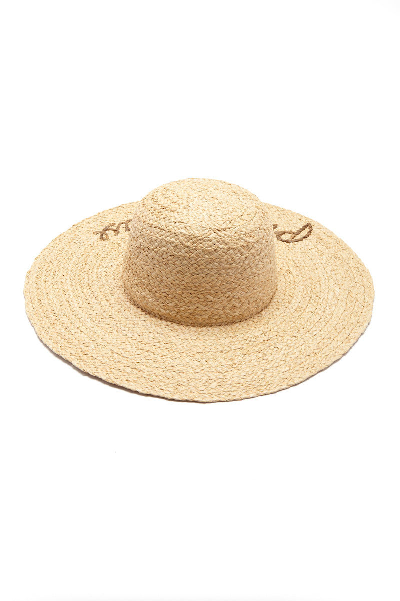 aa173fd7caa ... HAT ATTACK What s Your Motto Raffia Sun Hat - Privacy Please Hat