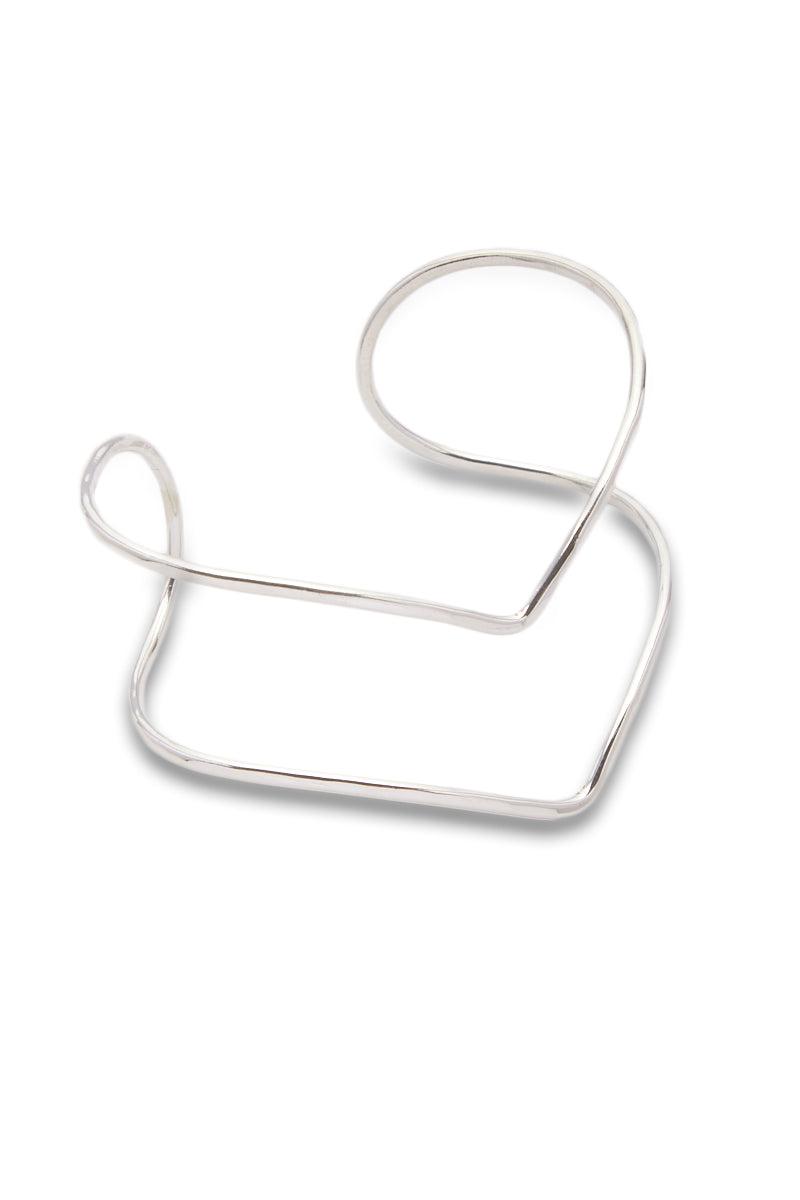 PARADIGM DESIGN Silver Division Cuff Jewelry   Silver  Paradigm Design Silver Division Cuff Side View