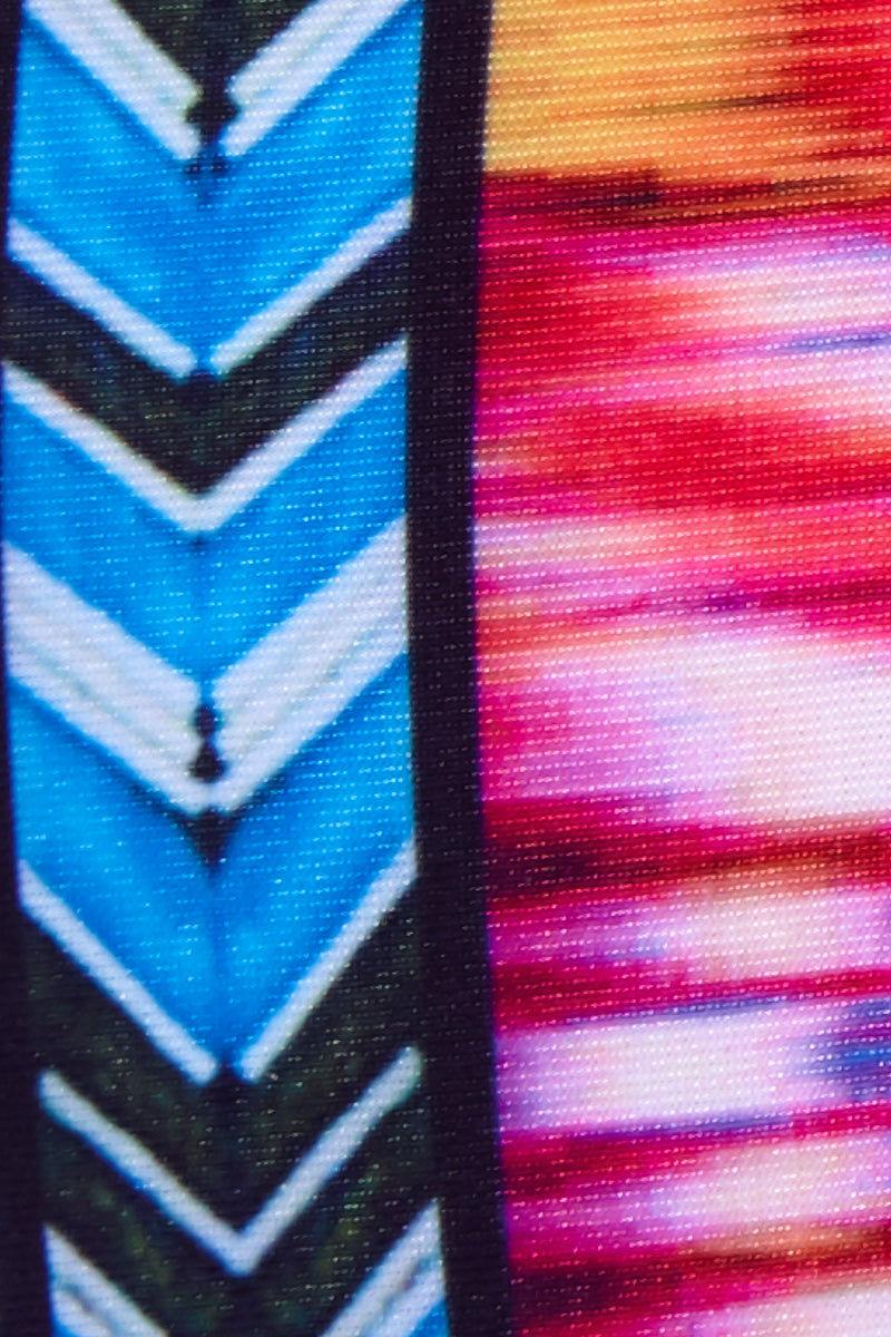 RAISINS CURVE Shoreline High Waisted Bikini Bottom (Curves) - Purple Sunset Print Bikini Bottom   Purple Sunset Print  Raisins Curve Shoreline Bikini Bottom high-waist full coverage bikini bottom with colorful chinle print and easy pull-on style