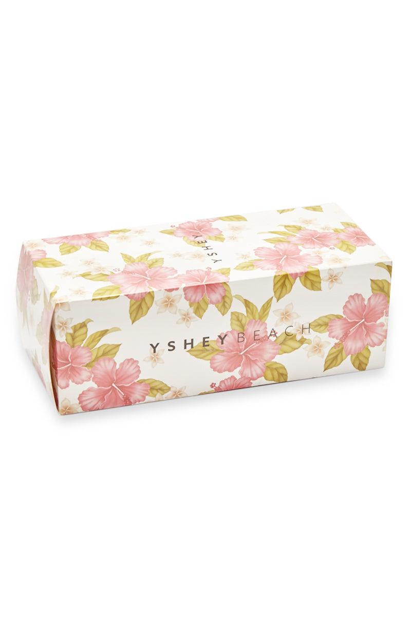 YSHEY Coral Dark Mocha Flip Flops Accessories | Dark Mocha| YSHEY Carol Flip Flops - flower shoe box