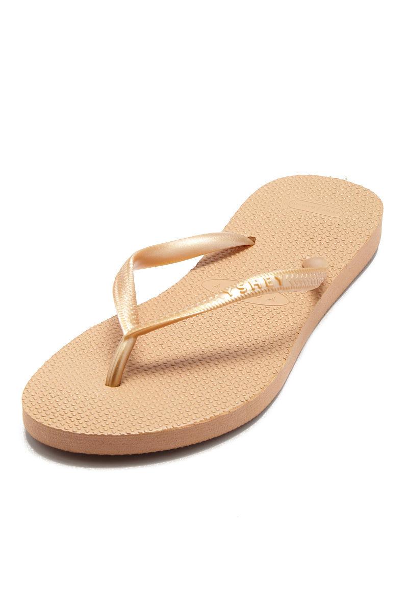 YSHEY Carol Rose Flip Flops Accessories | Rose Gold| YSHEY Carol Flip Flops - Top view versatile and comfortable rubber flip flop, rose gold mesh strips