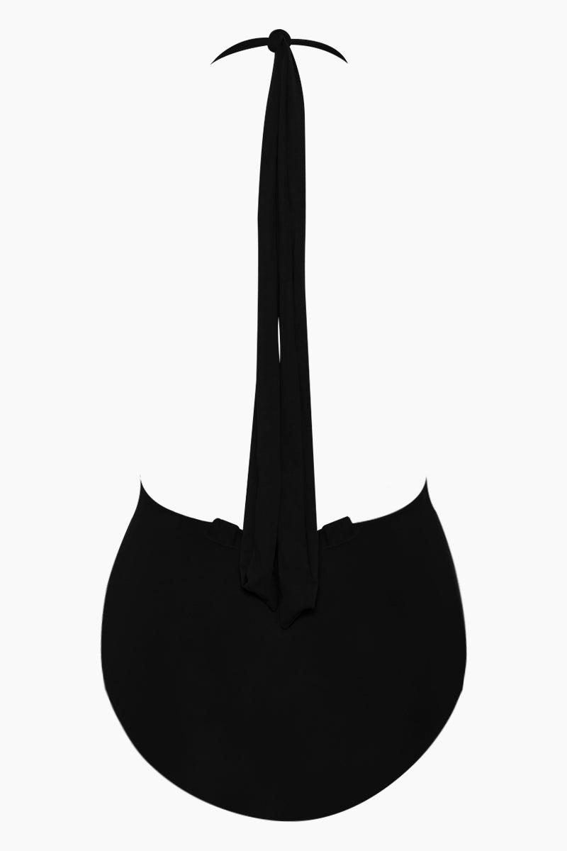 HAIGHT Marina Plunging Convertible Ties One Piece Swimsuit - Black One Piece | Black| Haight Marina Plunging Convertible Ties One Piece Swimsuit - Black