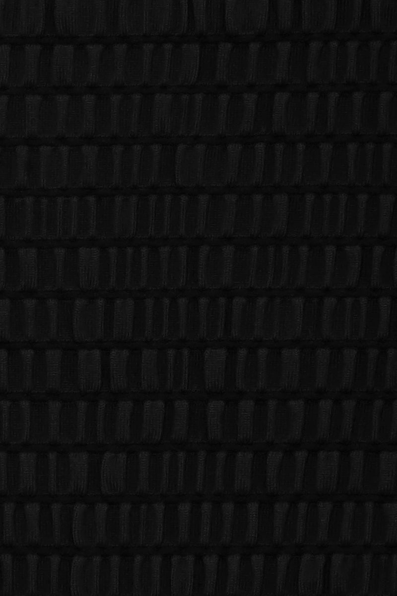 SIE SWIM Carter Smocked High Cut One Piece Swimsuit - Black One Piece | Black| Sie Swim Carter Smocked High Cut One Piece Swimsuit - Black. Features:   V neckline  Thin shoulder straps High cut leg  Skimpy coverage Front View