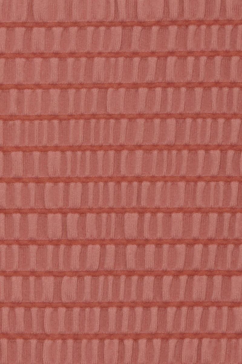 SIE SWIM Alex Smocked High Cut Bikini Bottom - Mauve Pink Bikini Bottom | Mauve Pink| Sie Swim Alex Smocked High Cut Bikini Bottom - Mauve Pink high-cut cheeky bikini bottom. Front View