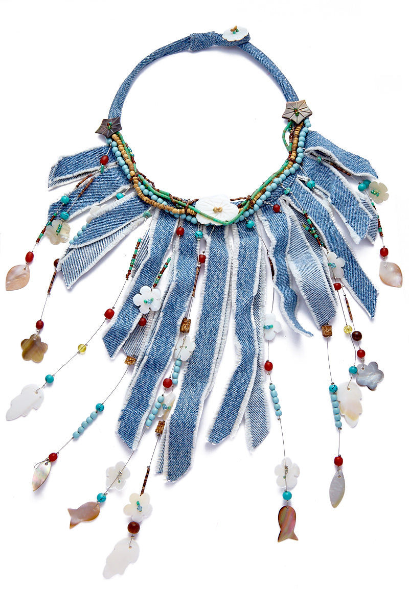 KATE CHAN Daisy Necklace Jewelry | Denim| Kate Chan Daisy Necklace Flat Lay View