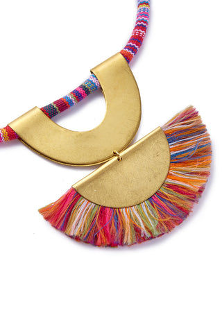 SANDY HYUN Rainbow Necklace Jewelry | Sandy Hyun Rainbow Necklace Close Up View