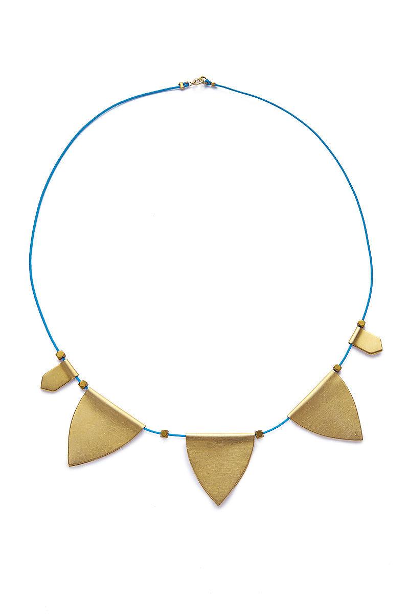 SANDY HYUN String Necklace Jewelry | Purple/Gold| Sandy Hyun String Necklace Full View