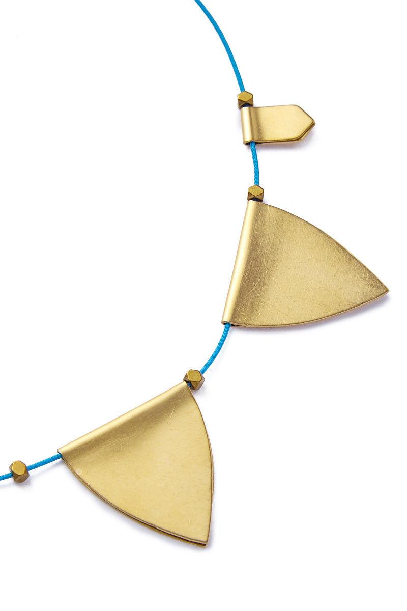 SANDY HYUN String Necklace Jewelry | Purple/Gold| Sandy Hyun String Necklace Close Up View