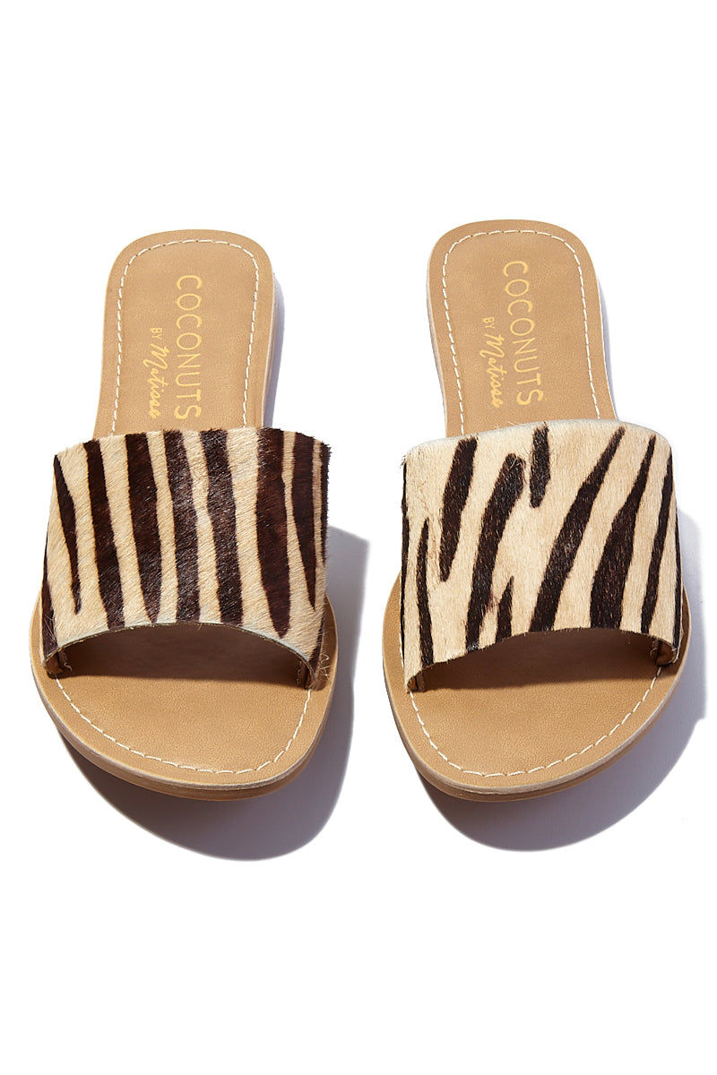 MATISSE Zebra Cabana Sandals Sandals | | Matisse Zebra Cabana Sandals Slides Upper: Leather / Suede / Cow Hair   Outsole: Man Made Synthetic Leather Lining   Padded Insole