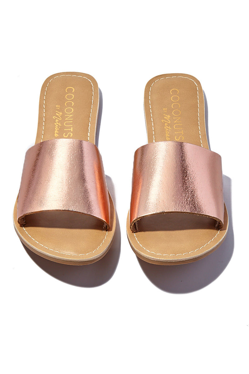 MATISSE Rose Gold Cabana Sandals Sandals | |Matisse Rose Gold Cabana Sandals Slides Upper: Leather /   Outsole: Man Made Synthetic Leather Lining   Padded Insole