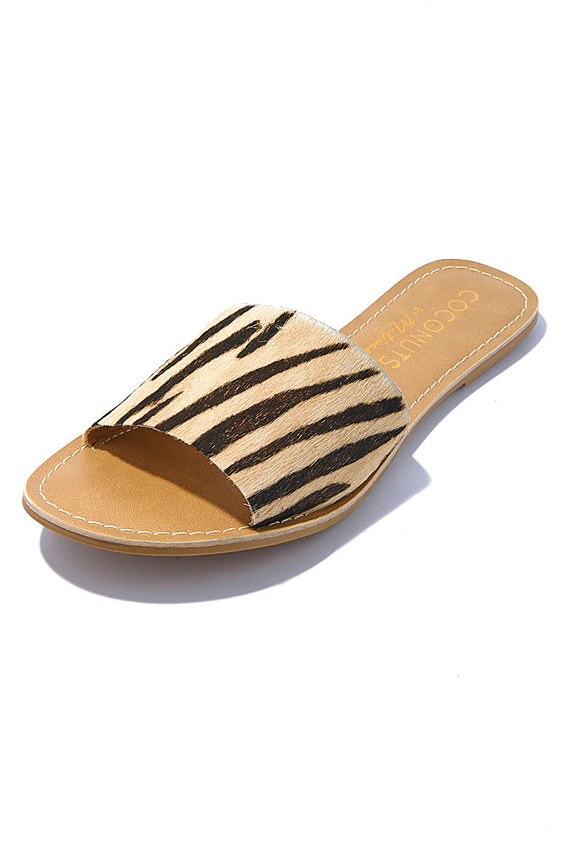 MATISSE Cabana Sandals - Zebra Animal Print Sandals | Matisse Cabana Sandals - Zebra Animal Print  Slides Upper: Leather / Suede / Cow Hair   Outsole: Man Made Synthetic Leather Lining   Padded Insole