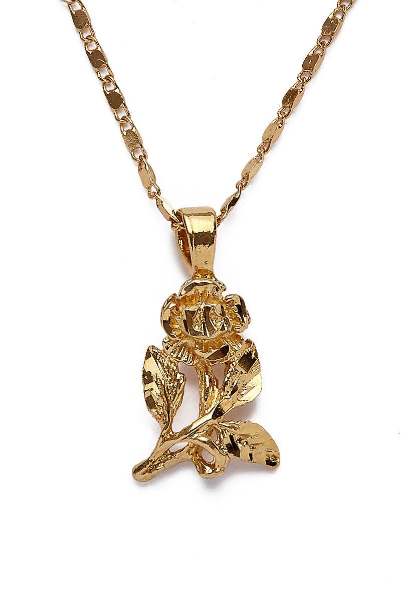 "VANESSA MOONEY Mini Rose Charm Necklace Jewelry   Gold  Vanessa Mooney Mini Rose Charm Necklace 24K Gold Plated Mini Rose Charm Necklace on 24K Gold Plated Chain Lightweight Design 18"" Length"