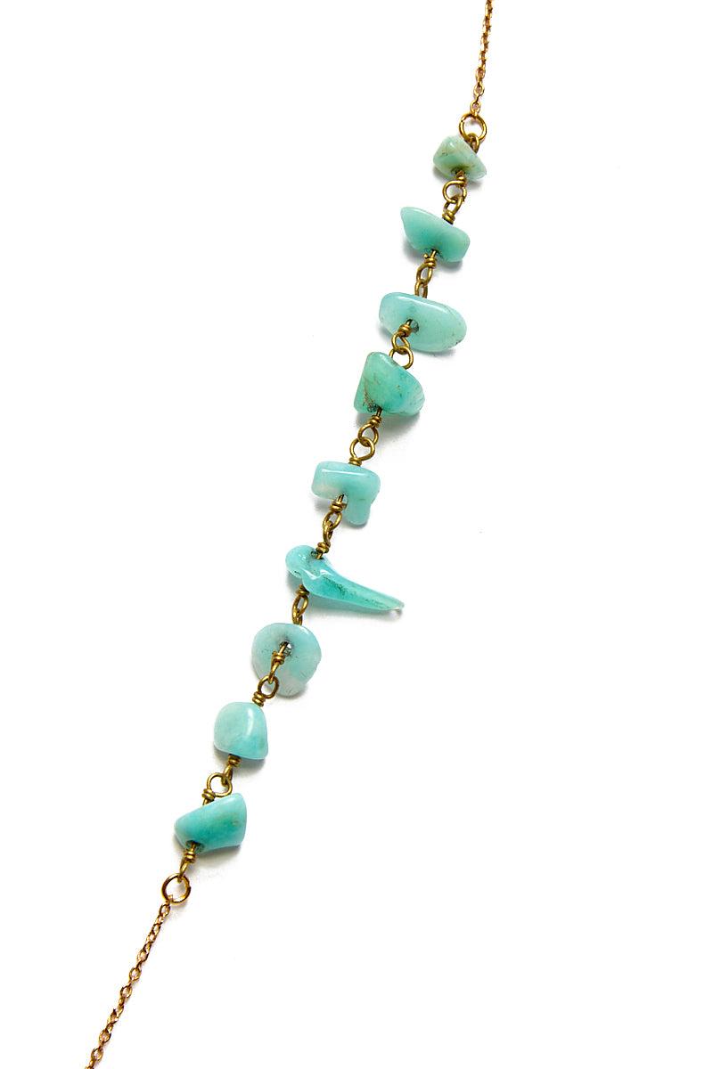 WANDERLUST FASHION Amazonite Bone Spike Necklace Jewelry | Wanderlust Fashion Amazonite Bone Spike Necklace