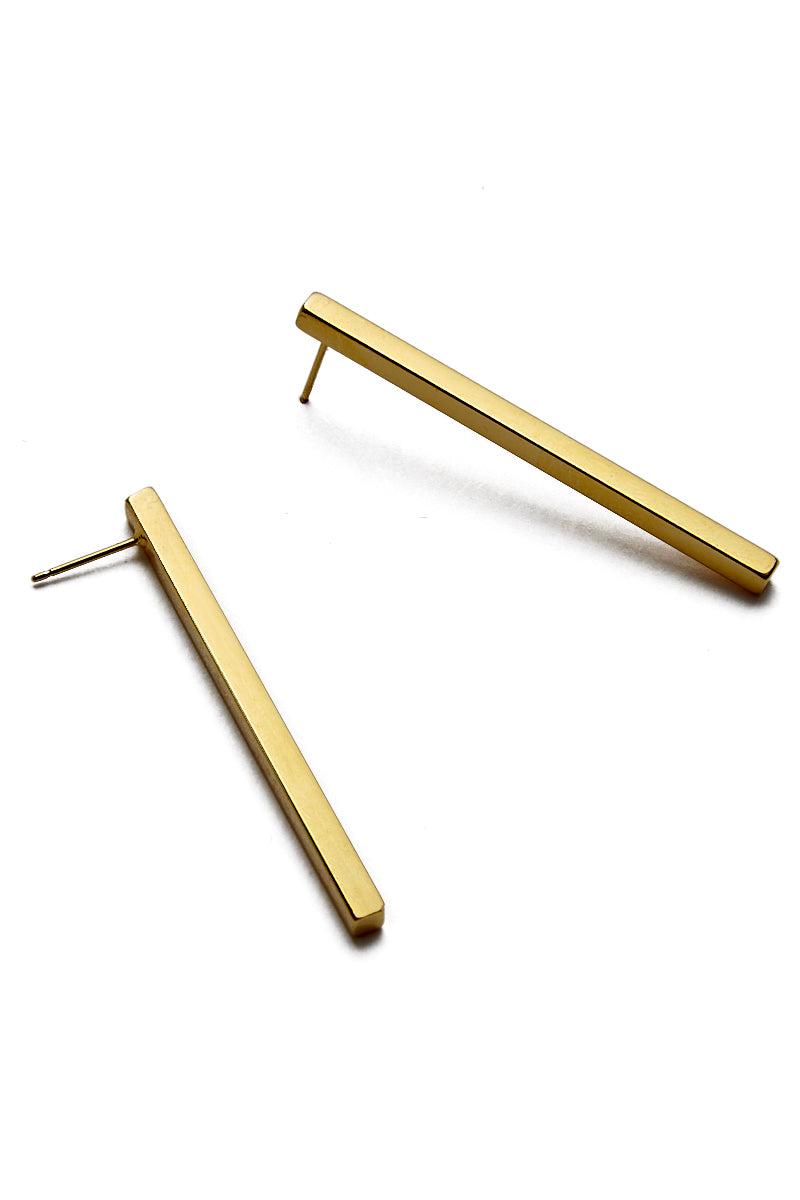 EKLEXIC Gold Large Stick Earrings Jewelry | Yellow Gold | Eklexic Gold Large Stick Earrings