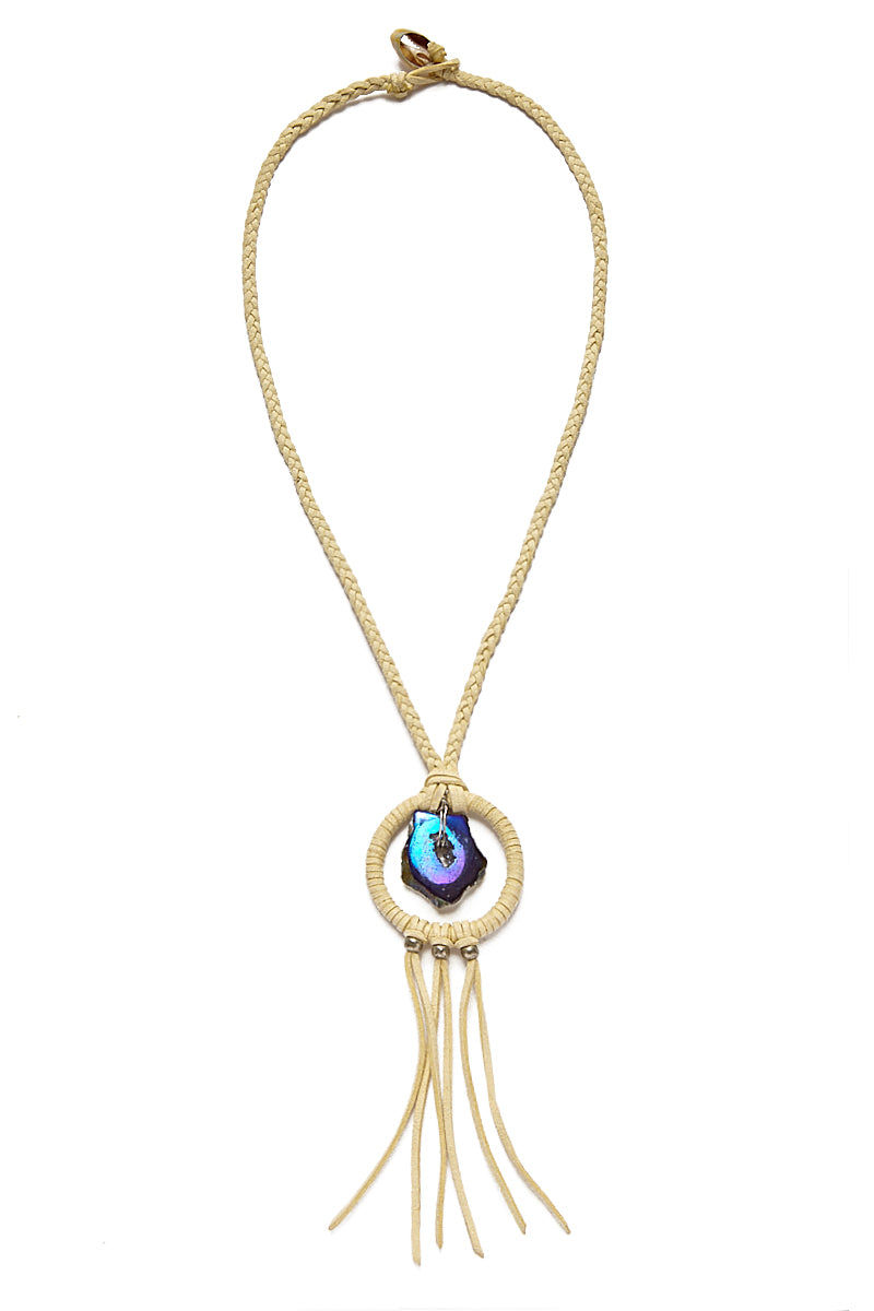 WANDERLUST FASHION Geode Dream Catcher Necklace Jewelry | Geode Dream Catcher Necklace
