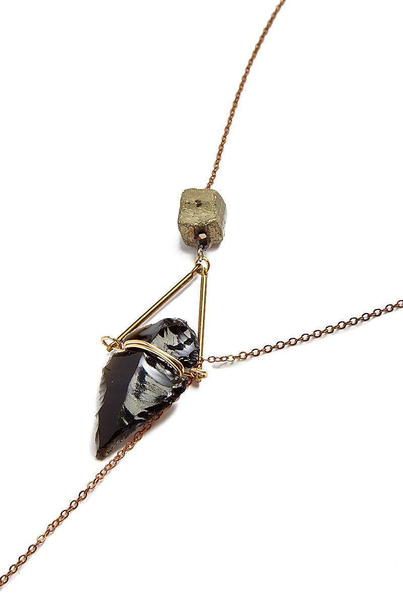 WANDERLUST FASHION Arrowhead Lariat Necklace Jewelry   Arrowhead Lariat Necklace