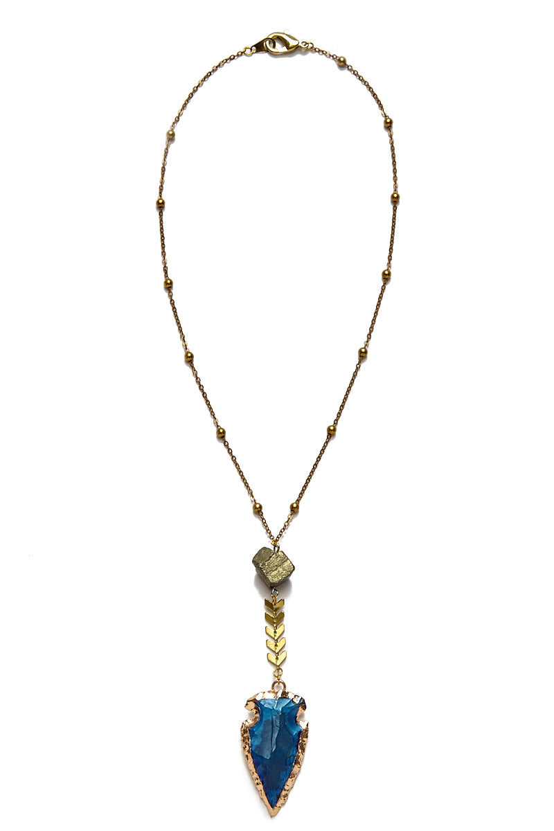 WANDERLUST FASHION Pyrite Arrowhead Necklace Jewelry | Pyrite Arrowhead Necklace