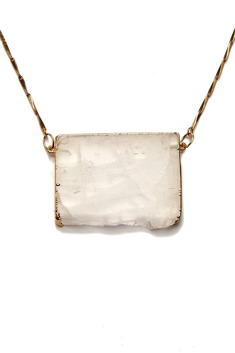 WANDERLUST FASHION Rose Quartz Necklace Jewelry | Rose Quartz Necklace