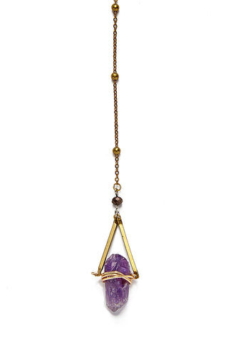 WANDERLUST FASHION Amethyst Lariat Necklace Jewelry | Wanderlust Fashion Amethyst Lariat Necklace