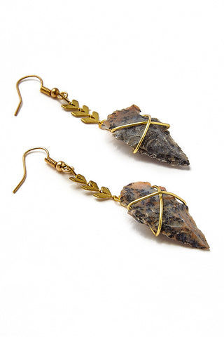 WANDERLUST FASHION Fishtail Arrowhead Earrings Jewelry | Wanderlust Fashion Fishtail Arrowhead Earrings