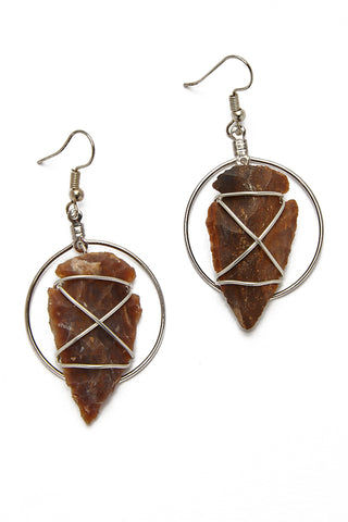 WANDERLUST FASHION Hoop Arrowhead Earrings Jewelry | Hoop Arrowhead Earrings