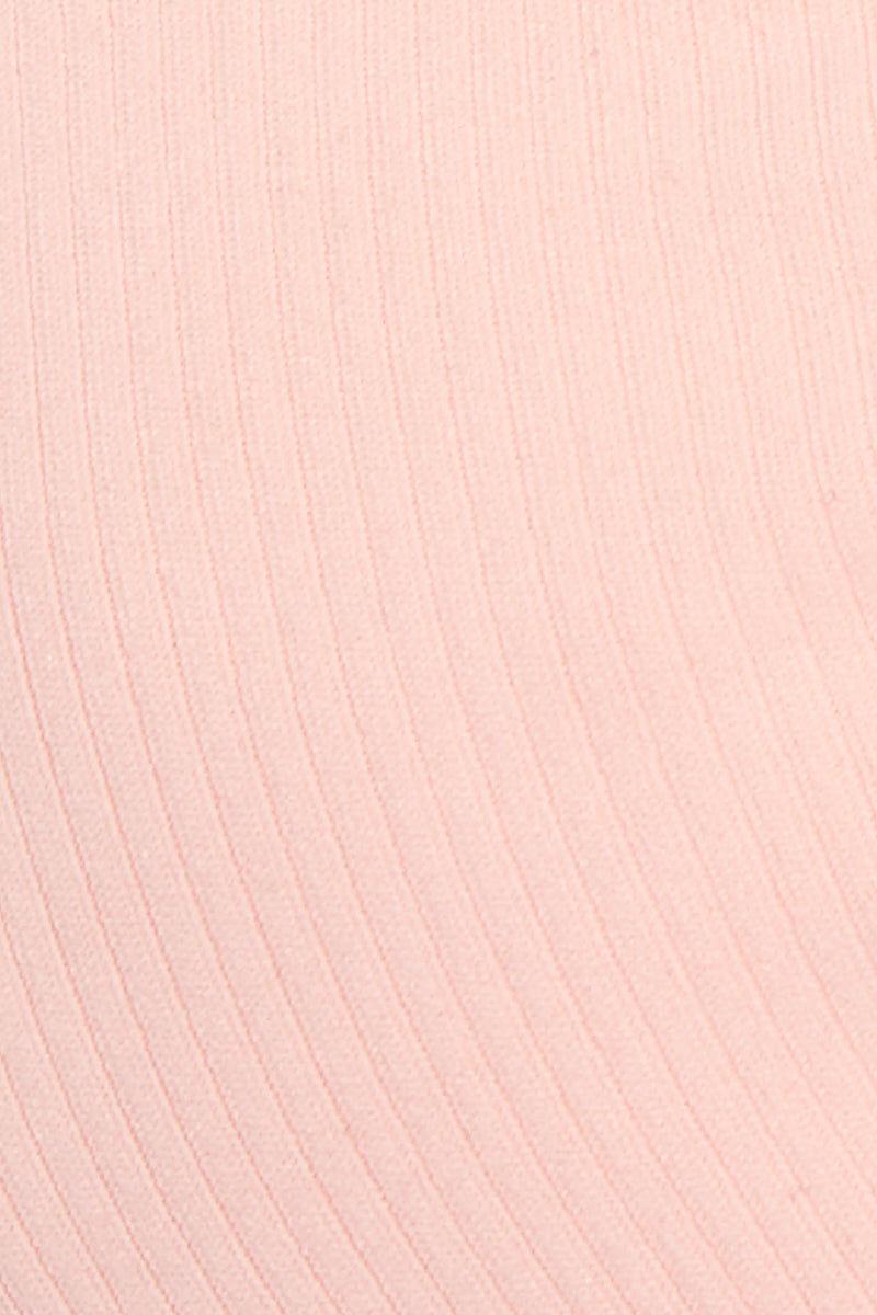 MGS Greyson Big Bust Top - Bubblegum Pink Rib Bikini Top | Bubblegum Rib| Greyson Top Detail View