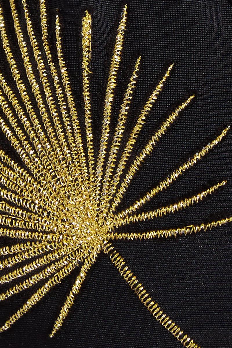 MGS Low Tide Skimpy Bottom - Black w/ Gold Bikini Bottom | Black w/ Gold|Low Tide Skimpy Bottom Detail