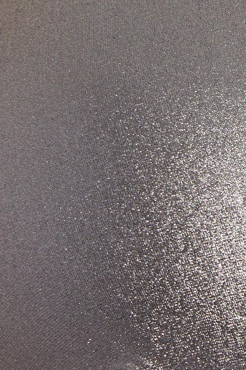 MOEVA Olivia Thick Waistband Bottom - Black/ Silver Bikini Bottom | Black/Silver| Moeva Olivia Thick Waistband Bottom Fabric Detail View