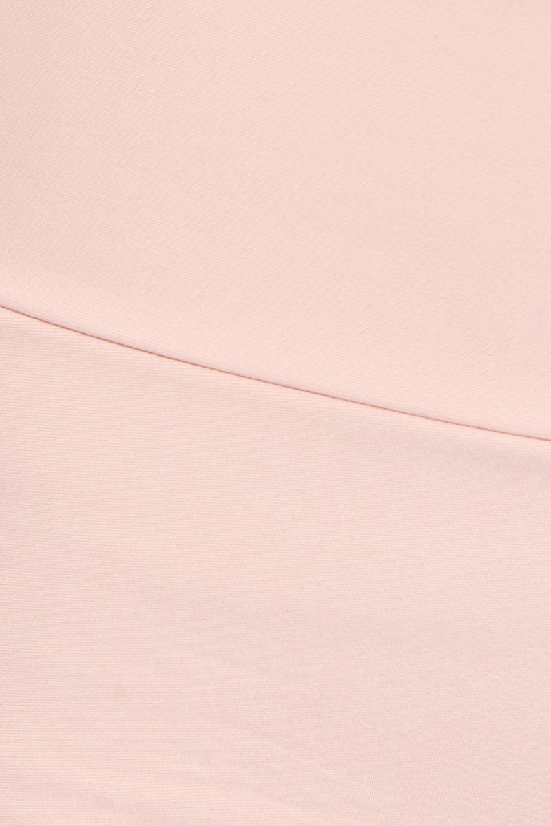 MONTCE SWIM High Rise Banded Bikini Bottom - Pastel Peach Bikini Bottom | Pastel Peach| Montce Swim High Rise Banded Bikini Bottom - Pastel Peach. Features: Flattering waisted bikini bottom in soft pastel peach color. The on-trend pastel color palette balances the classic vintage-inspired cut. View:  detailed