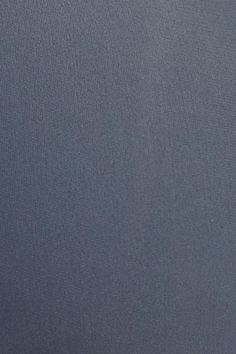 JADE SWIM Apex One Shoulder Bikini Top - Slate Bikini Top | Slate| Jade Swim Apex One Shoulder Bikini Top - Slate Detail View Asymmetrical One Shoulder Bikini Top Slate Gray Fabric Thin Double Back Straps UV Protective Lotion/Oil Resistant