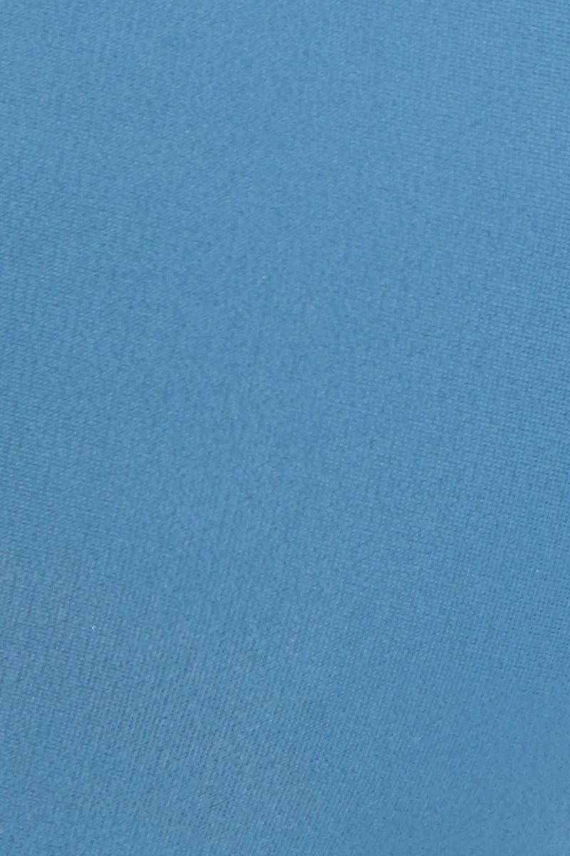 JADE SWIM Duality Double Strap Bikini Top - Sky Bikini Top | Sky| Jade Swim Duality Double Strap Bikini Top - Sky Detail View Bralette Style Bikini Top Scoop Neckline Comfortable Double Looped Through Straps